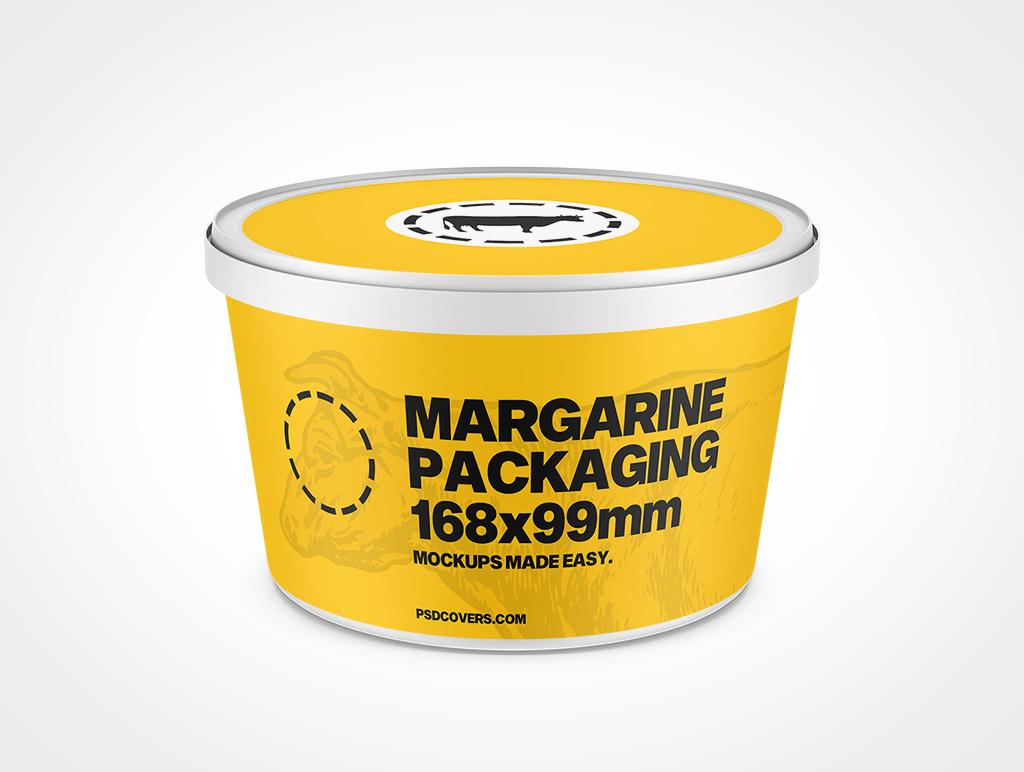MARGARINE PACKAGING SNAP LID 48OZ MOCKUP 168X99