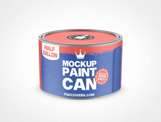 PAINT CAN SHORT HALF GALLON MOCKUP 168X102
