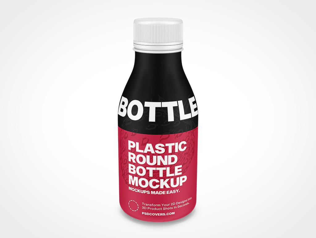 PLASTIC ROUND BOTTLE SCREW TOP MOCKUP 61X145