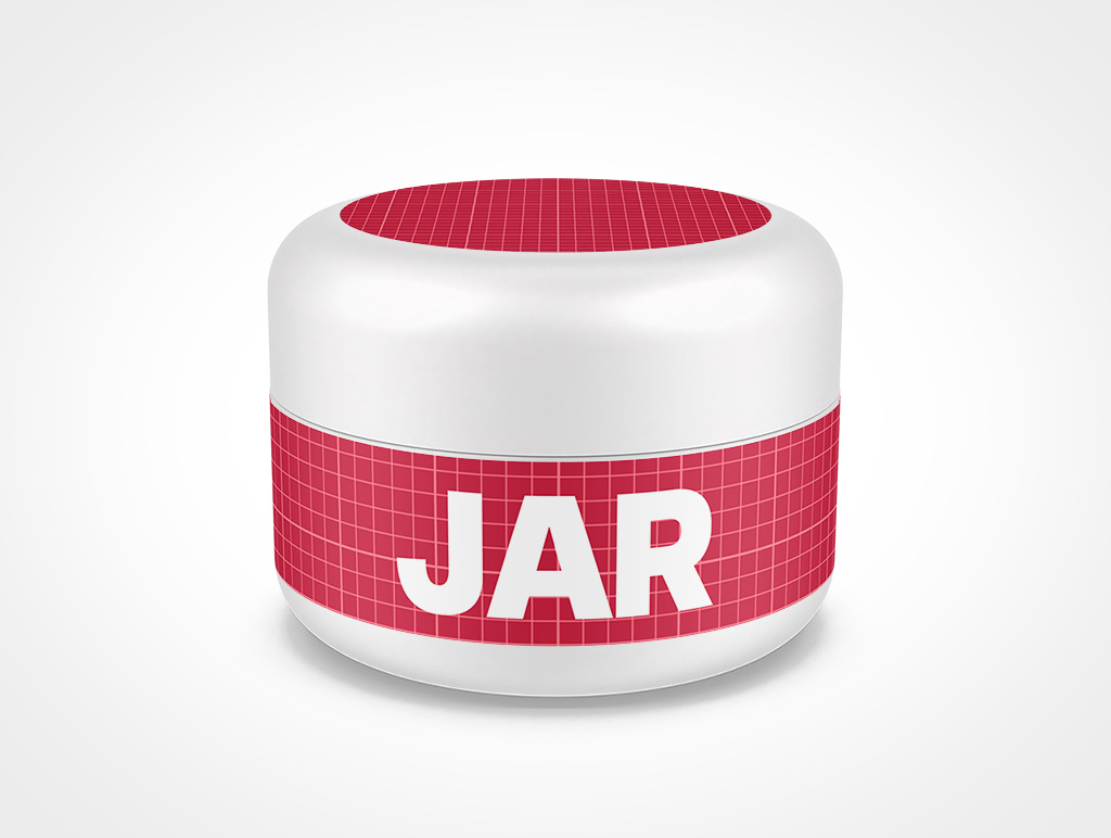COSMETIC JAR DOMED CAP MOCKUP 51X38