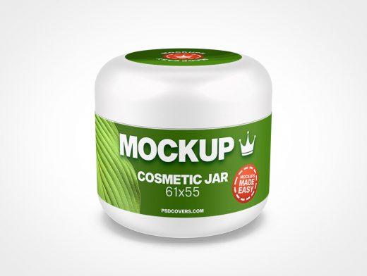 COSMETIC JAR DOMED CAP MOCKUP 61X55