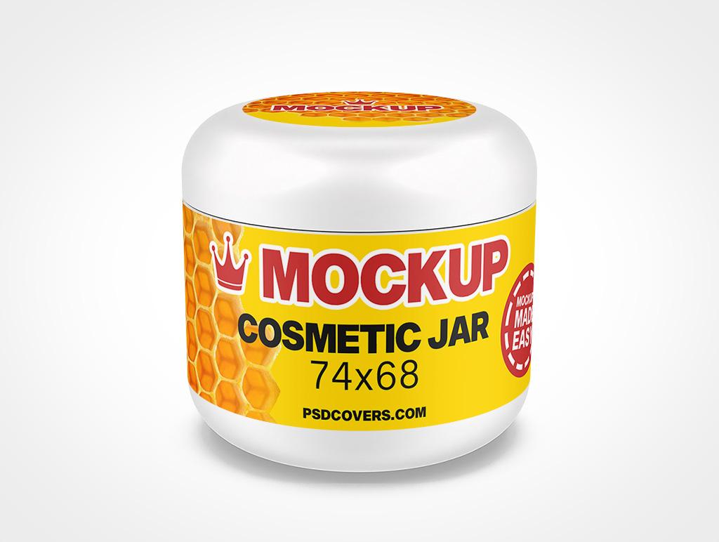 COSMETIC JAR DOMED CAP MOCKUP 74X68