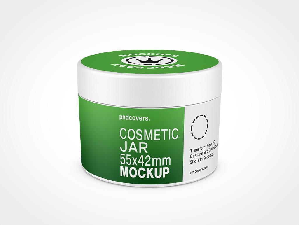 COSMETIC JAR SMOOTH CAP MOCKUP 55X42