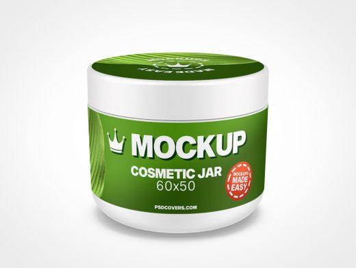 COSMETIC JAR SMOOTH CAP MOCKUP 60X50