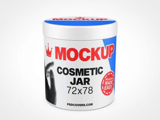 COSMETIC JAR SMOOTH CAP MOCKUP 72X78