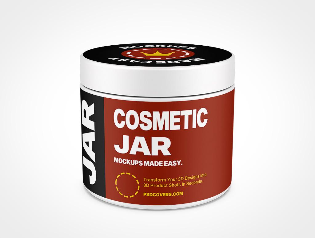 COSMETIC JAR SMOOTH CAP MOCKUP 74X62