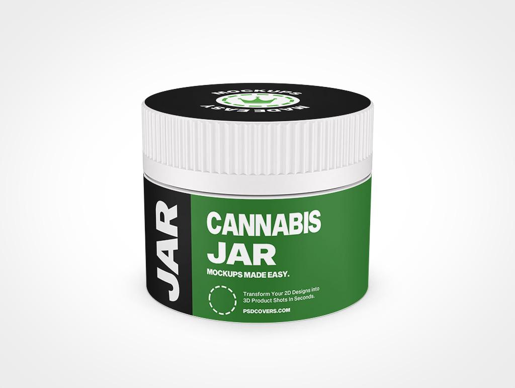 CANNABIS JAR CHILD RESISTANT CAP MOCKUP 61X50