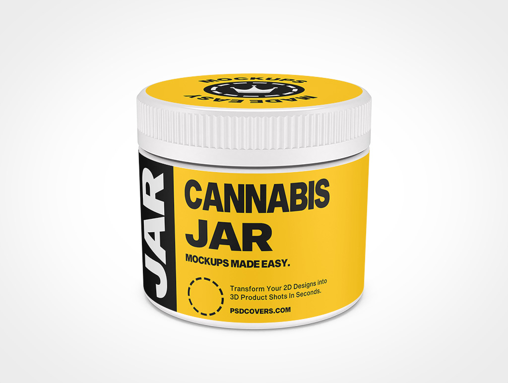 CANNABIS JAR CHILD RESISTANT CAP MOCKUP 77X65