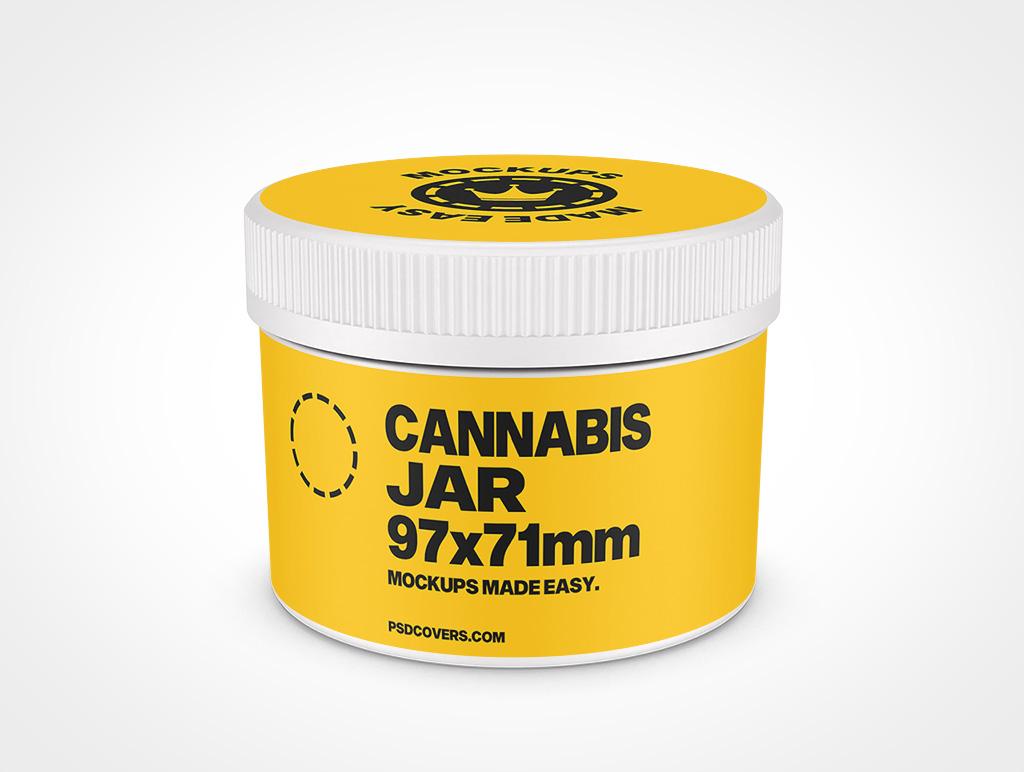CANNABIS JAR CHILD RESISTANT CAP MOCKUP 97X71