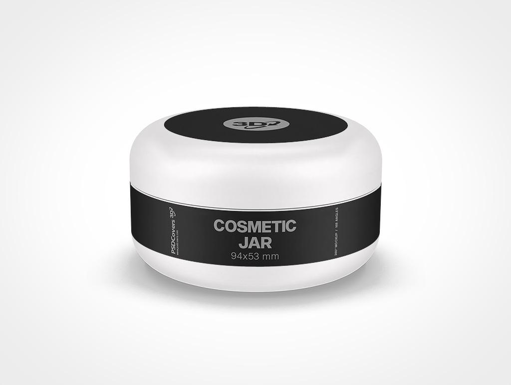 COSMETIC JAR DOMED CAP MOCKUP 94X53
