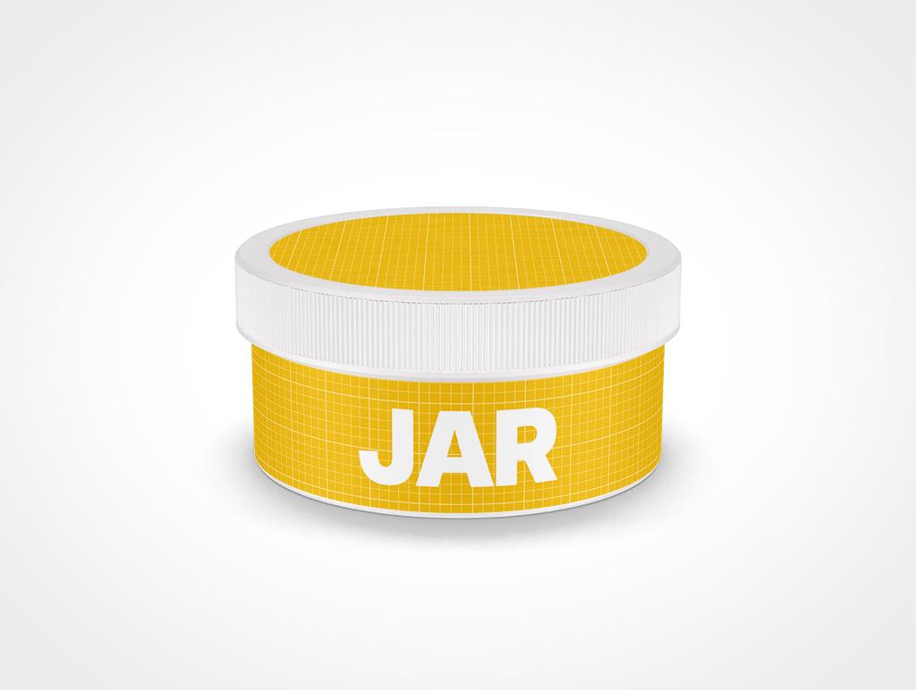 COSMETIC JAR RIBBED CAP MOCKUP 92X45