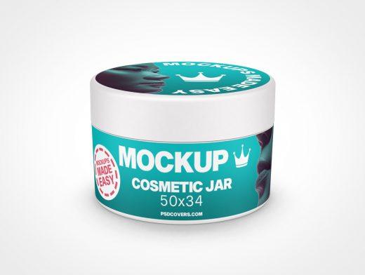COSMETIC JAR SMOOTH CAP MOCKUP 50X34