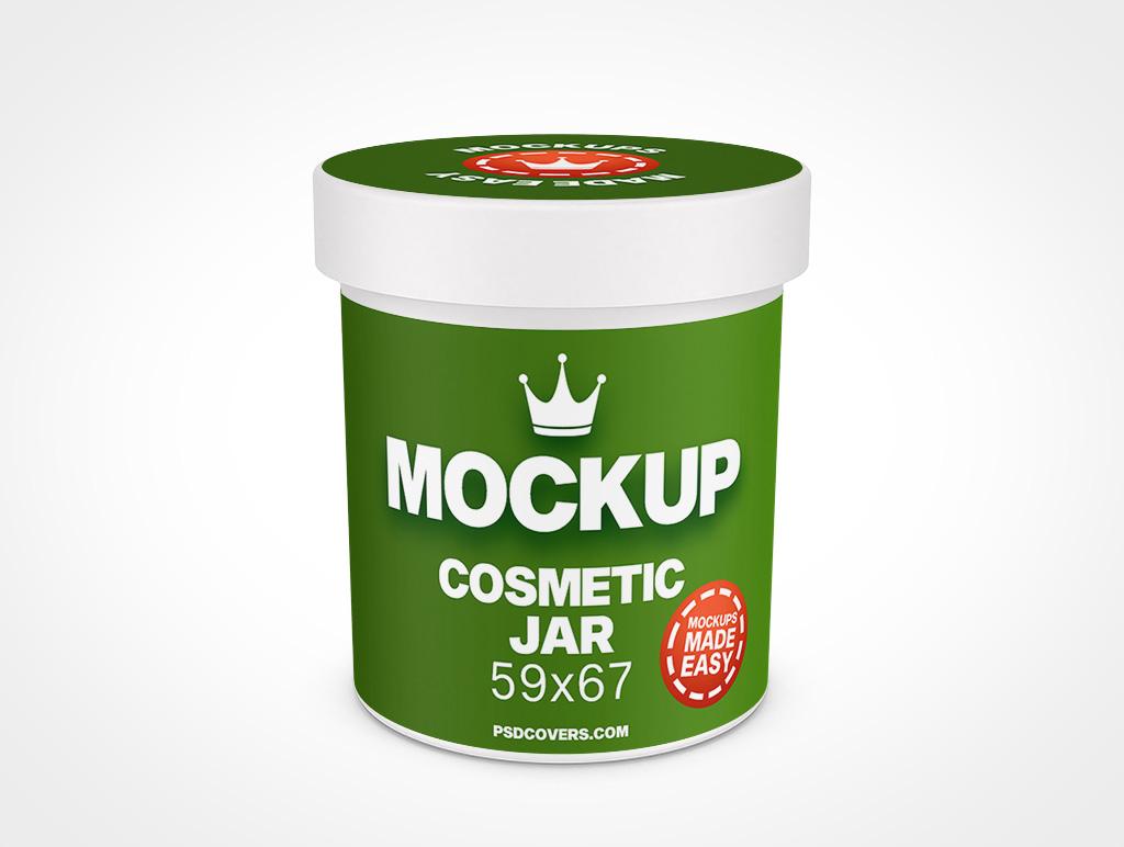 COSMETIC JAR SMOOTH CAP MOCKUP 59X67