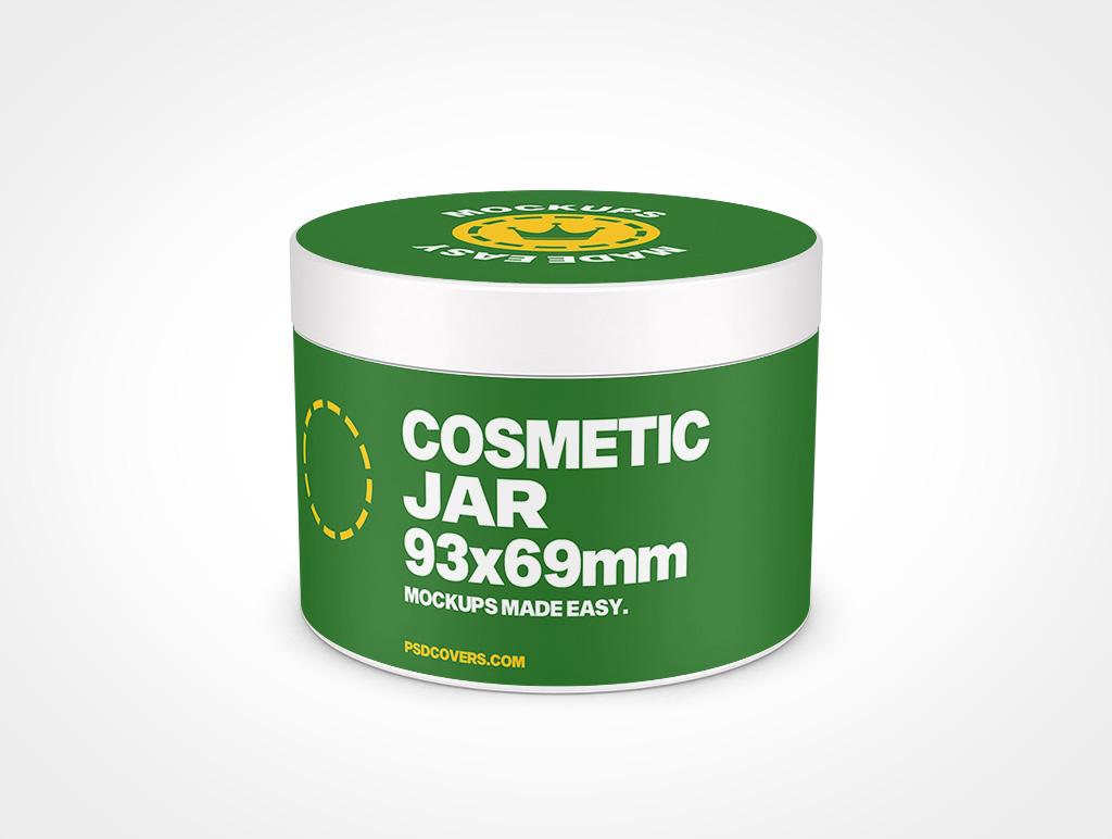 COSMETIC JAR SMOOTH CAP MOCKUP 93X69