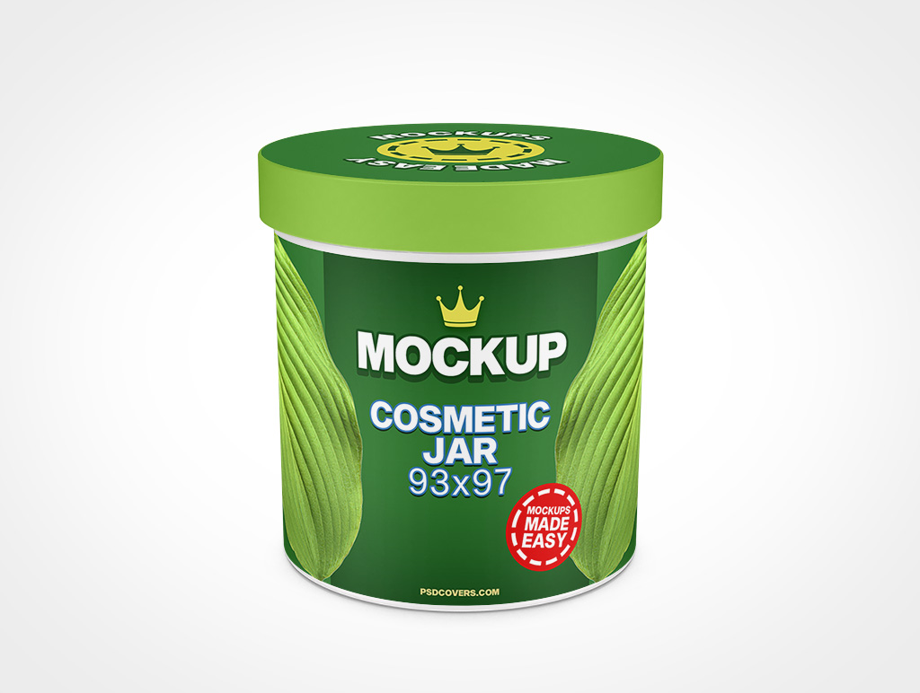COSMETIC JAR SMOOTH CAP MOCKUP 93X97