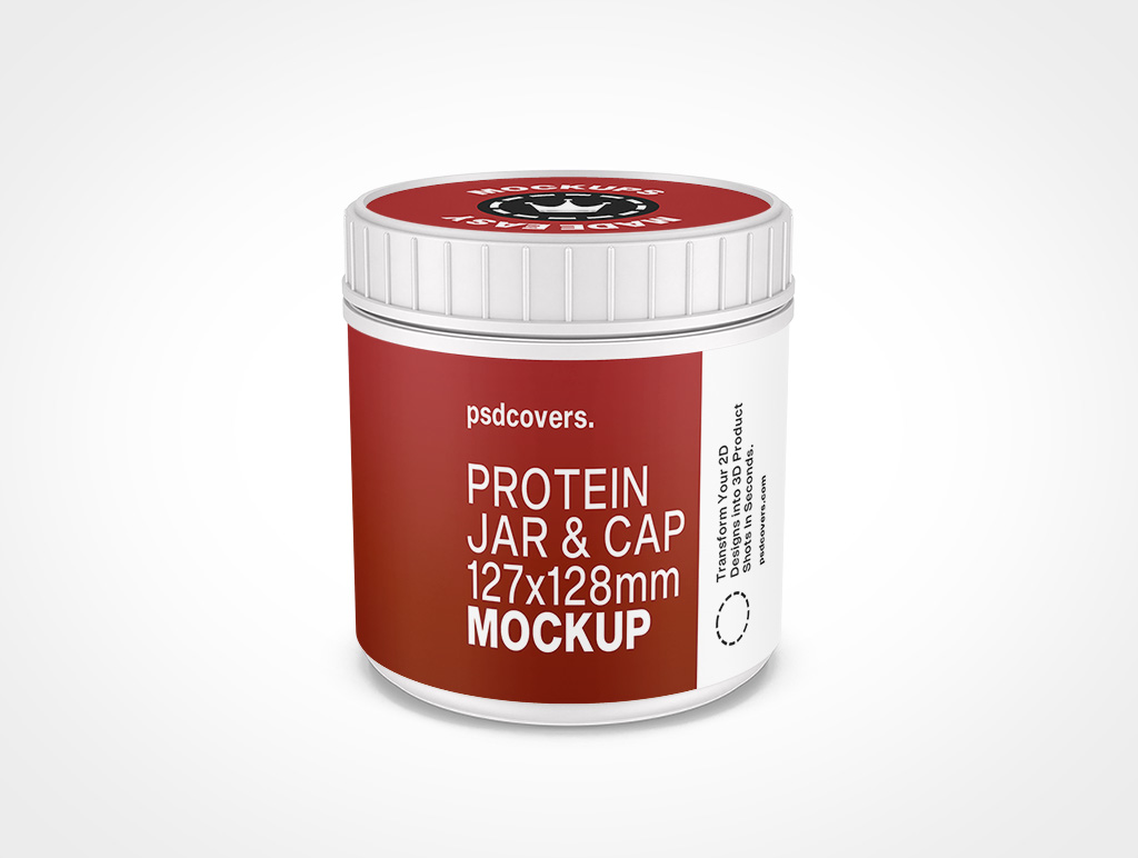 PROTEIN JAR RIBBED CAP MOCKUP 127X128