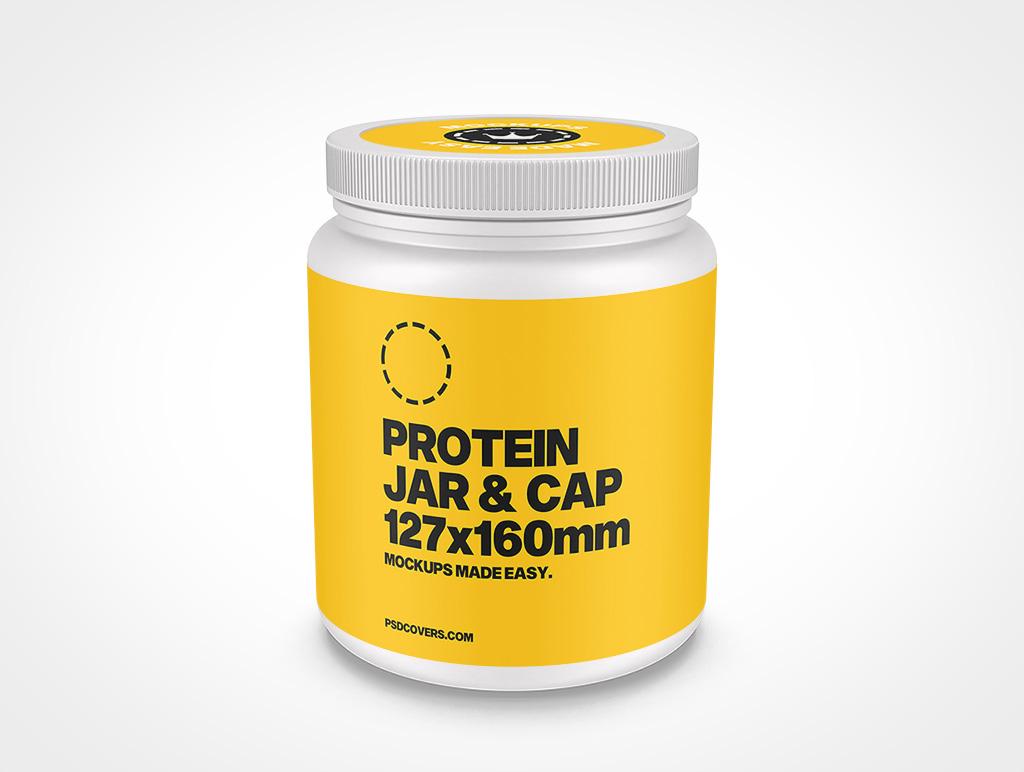 PROTEIN JAR RIBBED CAP MOCKUP 127X160