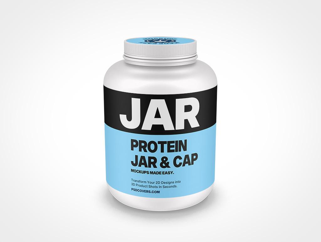 PROTEIN JAR RIBBED CAP MOCKUP 197X277