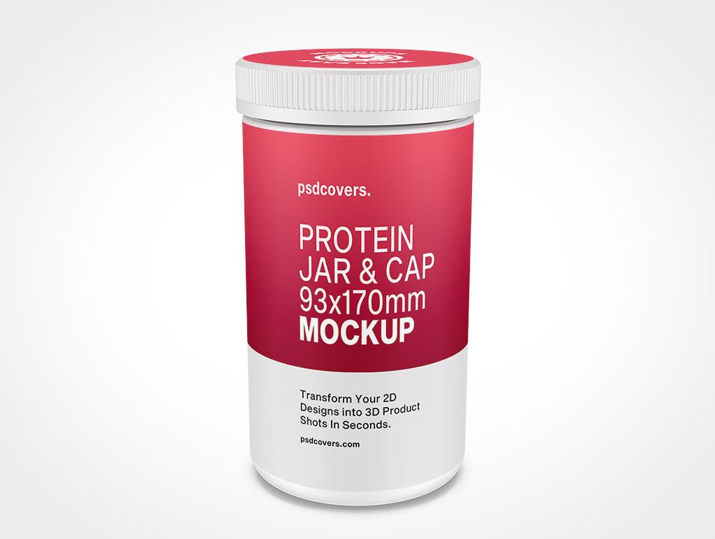 PROTEIN JAR RIBBED CAP MOCKUP 93X170
