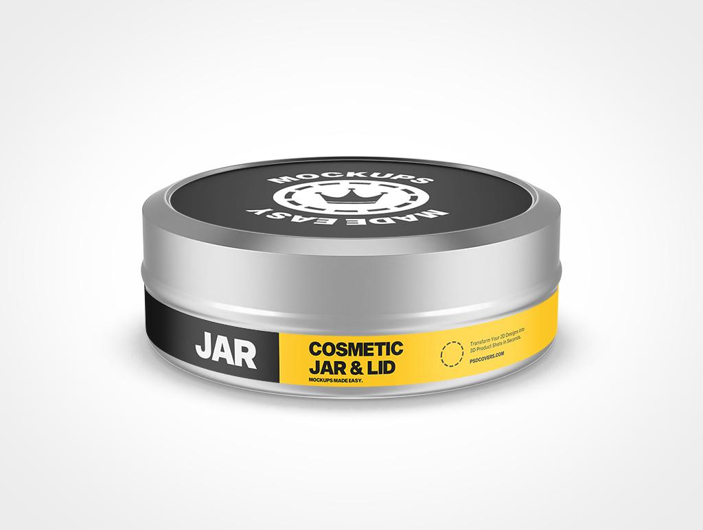COSMETIC TIN JAR SLIP LID MOCKUP 50X16