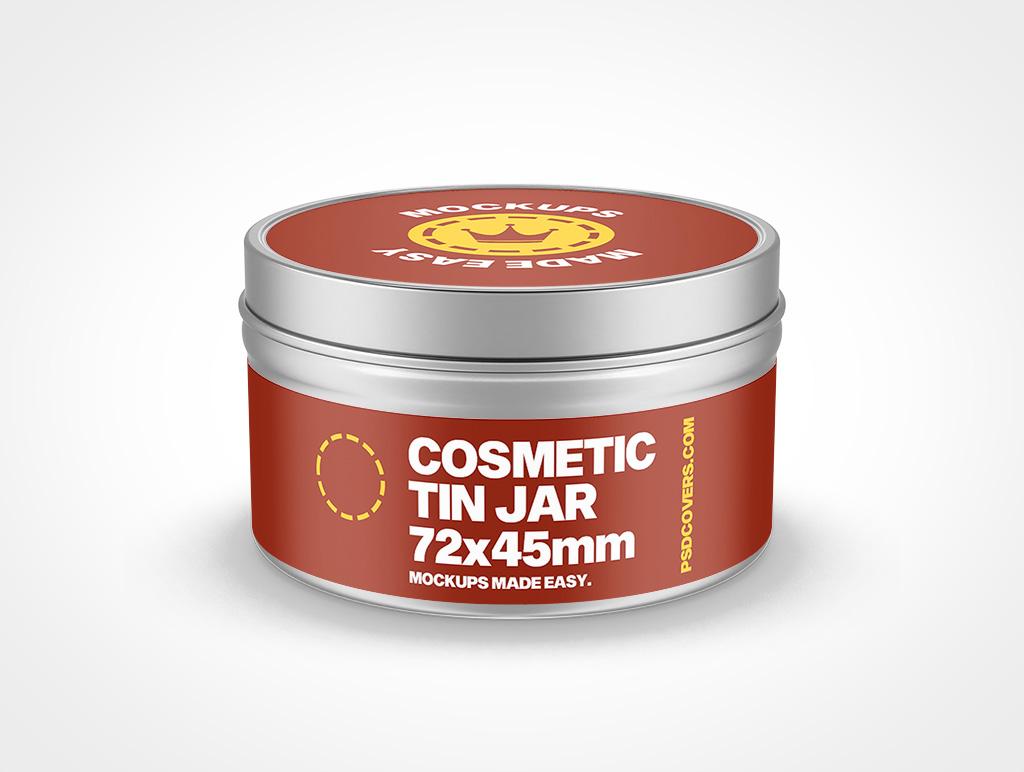 COSMETIC TIN JAR SLIP LID MOCKUP 72X45
