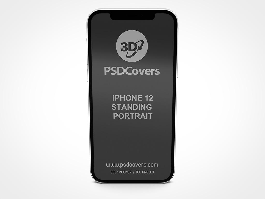 IPHONE 12 MOCKUP STANDING PORTRAIT