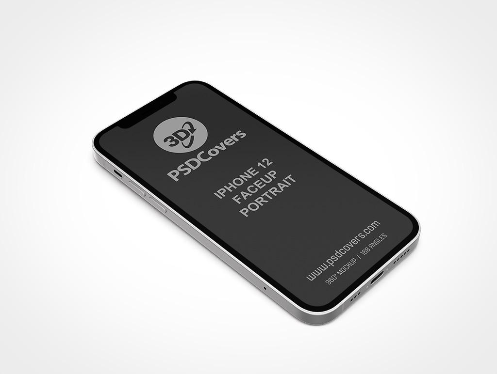 IPHONE 12 MOCKUP FACEUP PORTRAIT