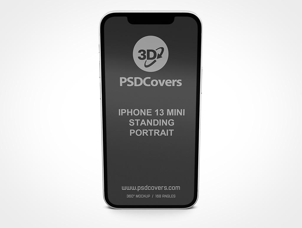 IPHONE 13 MINI MOCKUP STANDING PORTRAIT