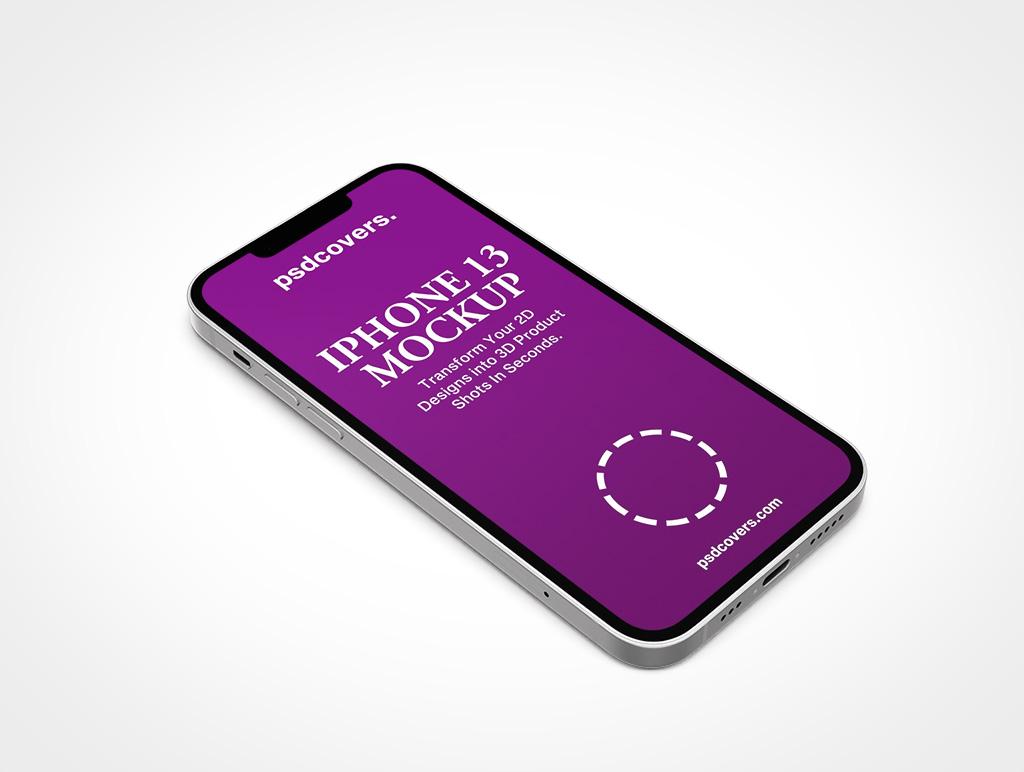 IPHONE 13 MOCKUP FACEUP PORTRAIT