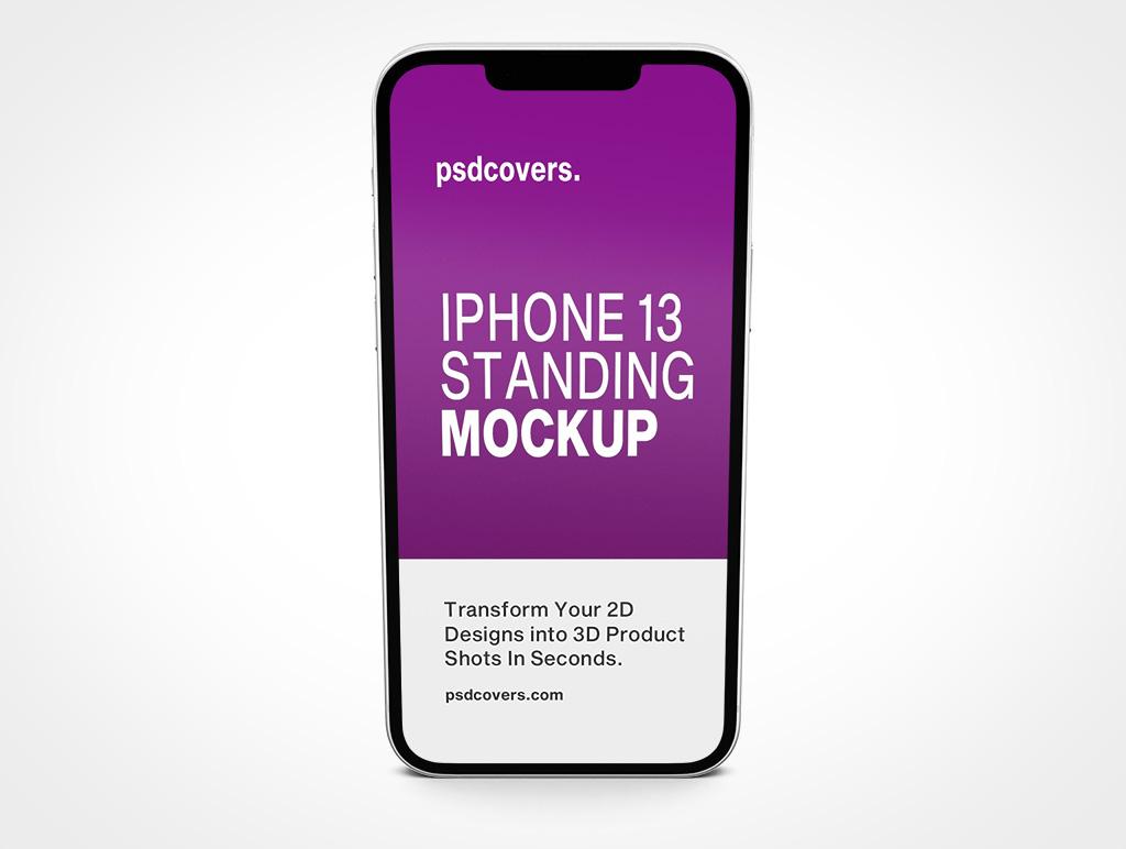 IPHONE 13 MOCKUP STANDING PORTRAIT