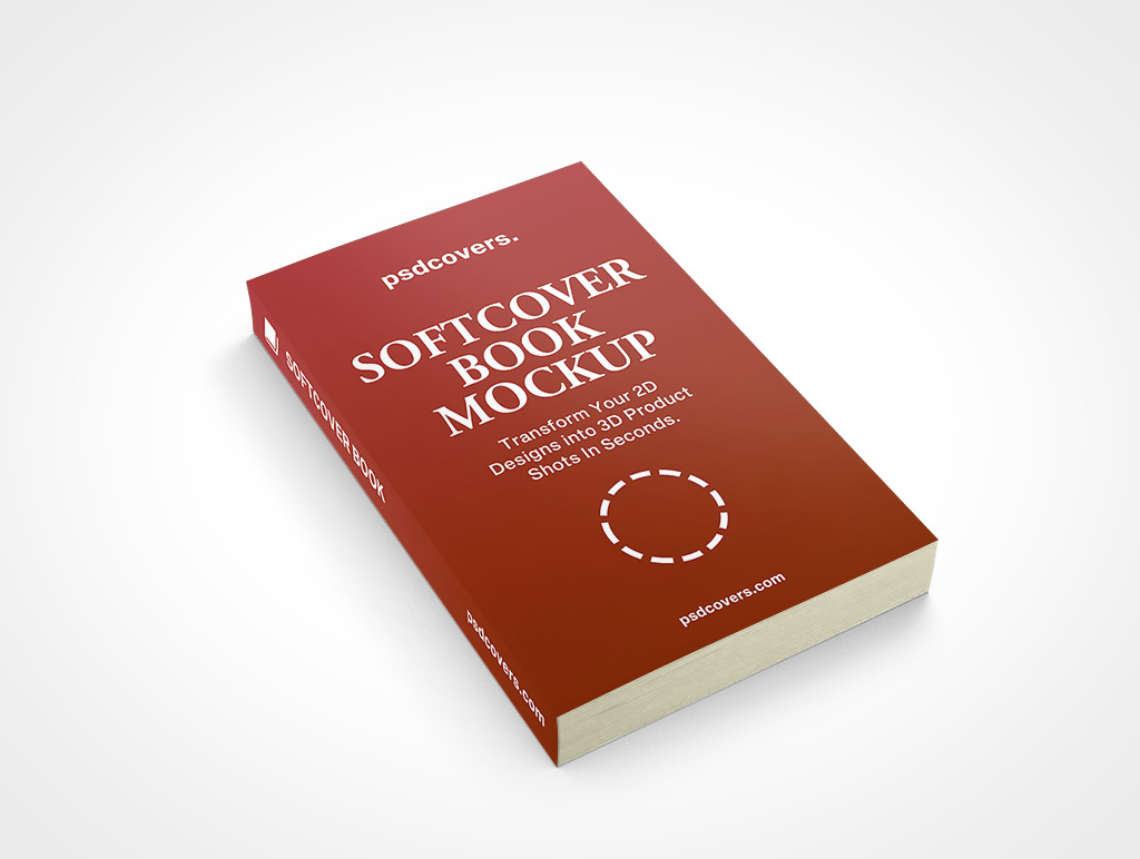 SOFTCOVER BOOK FACEUP MOCKUP 108X178X19
