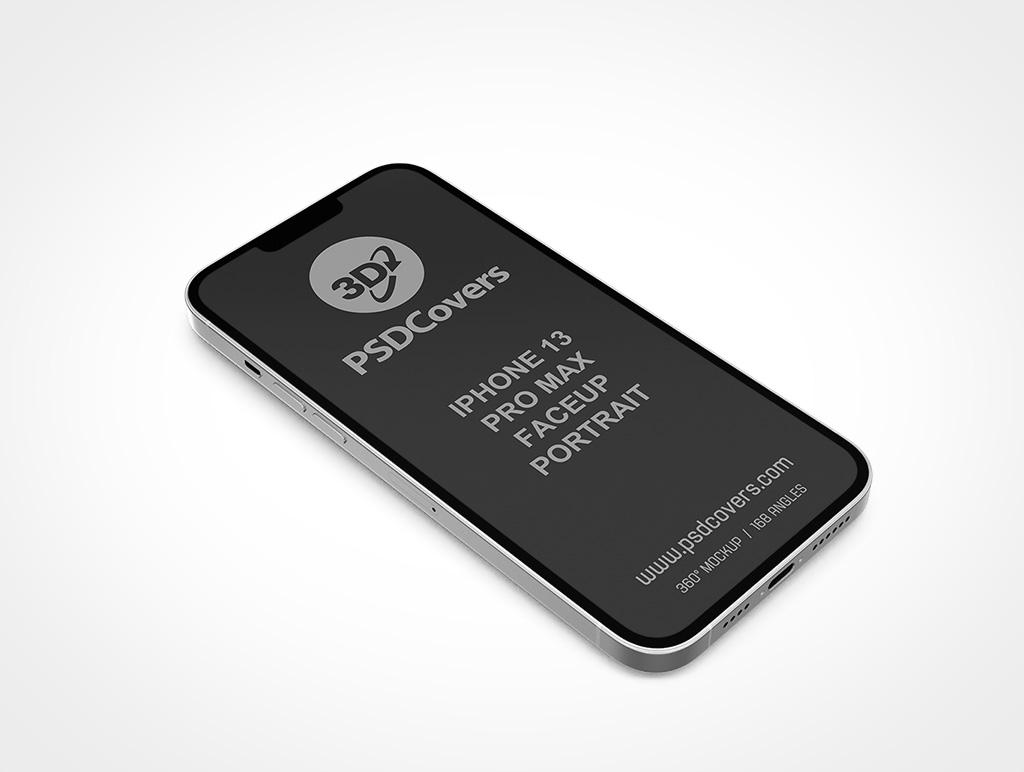 IPHONE 13 PRO MAX MOCKUP FACEUP PORTRAIT