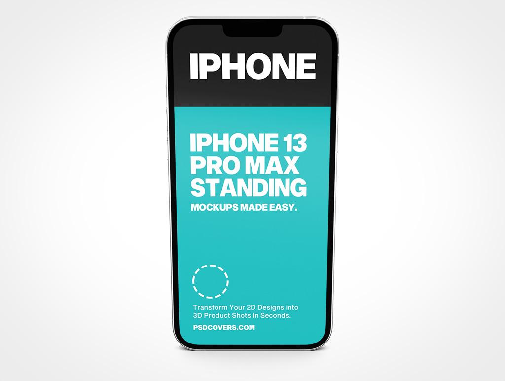IPHONE 13 PRO MAX MOCKUP STANDING PORTRAIT