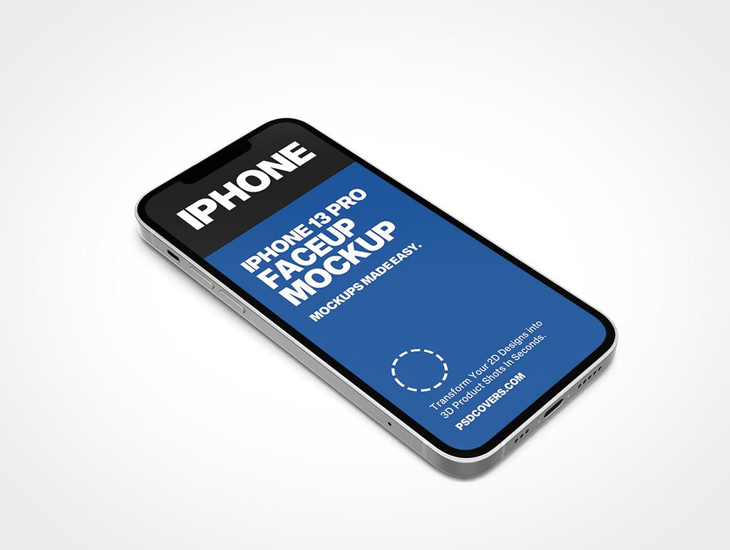 IPHONE 13 PRO MOCKUP FACEUP PORTRAIT