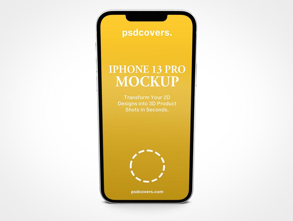 IPHONE 13 PRO MOCKUP STANDING PORTRAIT